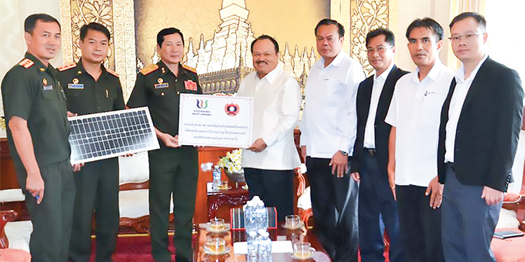 Mistry of Energy and mine hands over solar electric power equipment to Military Division 1